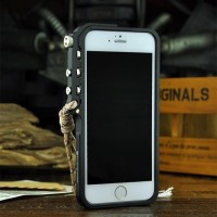 Bumper Case iPhone 6/6s alumunium Arm Trigger warna Hitam MURAH