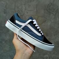 Sepatu Vans Old Skool Classic Navy Blue White Sepatu Vans Biru d630e51d63