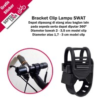 Holder Bracket Mount Flashlight Sepeda Lampu SWAT Clip Lock