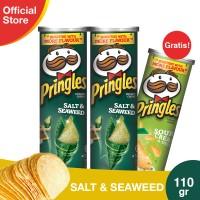 [Buy 2 Get 1] Pringles Salt & Seaweed 110g Free Sour Cream&Onion 110g