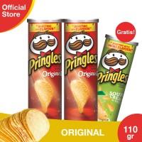 [Buy 2 Get 1] Pringles Original 110g Free Sour Cream & Onion 110g