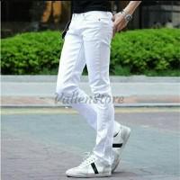 TERLARIS celana jeans pria skinny putih
