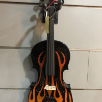 Biola Violin Verona motif Fire 4/4 Original