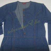 Baju Gamis / Fashion Wanita / Fatiyah 2 Jumbo - gamis bahan jeans wash
