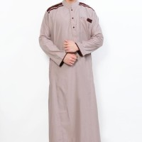 Baju Gamis / Fashion Wanita / Jubah Muslim Gamis Pria Cordova Krem Lis