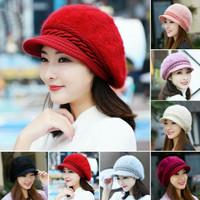 topi rajut fashion korea bulu