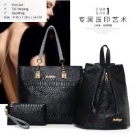 Tas Fashion Import Model Terbaru 3in1 - TG1271 Black