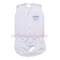 Miyo Setelan Baju Kutung dan Celana Pop putih polos sz newborn