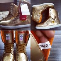 MENARIK Sepatu Zumba High Gold