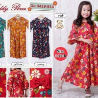 Gamis Teddy Bear anak 3419-814 ( uk 1-2-3 )