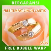Cincin Perak Ring Couple BONUS Cincin Nikah Kawin Wedding Silver SS25
