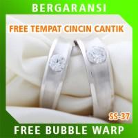 Cincin Perak Ring Couple BONUS Cincin Nikah Kawin Wedding Silver SS37