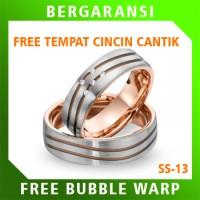 Cincin Kawin Wedding Ring BONUS Tempat Cincin Tunangan Silver SS13