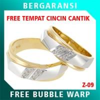 Cincin Perak Couple BONUS Kotak Cincin Couple Wedding Ring Nikah Z09