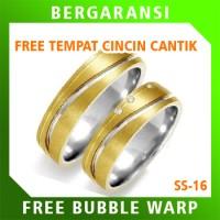 Cincin Kawin Wedding Ring BONUS Tempat Cincin Tunangan Silver SS16