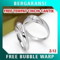 Cincin Perak Couple BONUS Kotak Cincin Couple Wedding Ring Nikah Z12