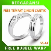 Cincin Kawin Wedding Ring BONUS Tempat Cincin Tunangan Silver SS14