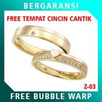 Cincin Perak Couple BONUS Kotak Cincin Couple Wedding Ring Nikah Z03