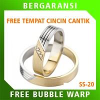 Cincin Perak Ring Couple BONUS Cincin Nikah Kawin Wedding Silver SS20