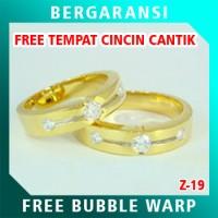 Cincin Perak Couple BONUS Kotak Cincin Couple Wedding Ring Nikah Z19