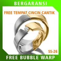 Cincin Perak Ring Couple BONUS Cincin Nikah Kawin Wedding Silver SS26