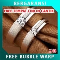 Cincin Perak Couple BONUS Kotak Cincin Couple Wedding Ring Nikah Z04