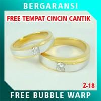 Cincin Perak Couple BONUS Kotak Cincin Couple Wedding Ring Nikah Z18