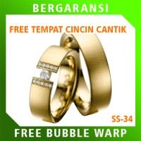 Cincin Perak Ring Couple BONUS Cincin Nikah Kawin Wedding Silver SS34