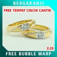 Cincin Perak Couple BONUS Kotak Cincin Couple Wedding Ring Nikah Z20