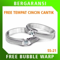 Cincin Perak Ring Couple BONUS Cincin Nikah Kawin Wedding Silver SS21