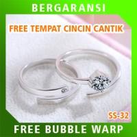 Cincin Perak Ring Couple BONUS Cincin Nikah Kawin Wedding Silver SS32