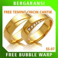 Cincin Kawin Wedding Ring BONUS Tempat Cincin Tunangan Silver SS07