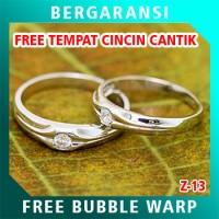 Cincin Perak Couple BONUS Kotak Cincin Couple Wedding Ring Nikah Z13