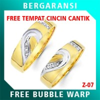 Cincin Perak Couple BONUS Kotak Cincin Couple Wedding Ring Nikah Z07