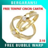 Cincin Perak Couple BONUS Kotak Cincin Couple Wedding Ring Nikah Z10