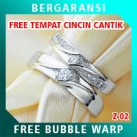 Cincin Perak Couple BONUS Kotak Cincin Couple Wedding Ring Nikah Z02