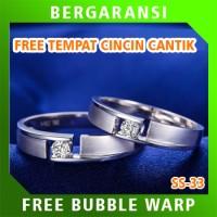 Cincin Perak Ring Couple BONUS Cincin Nikah Kawin Wedding Silver SS33