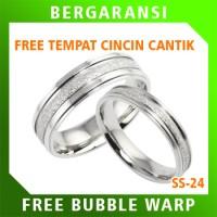 Cincin Perak Ring Couple BONUS Cincin Nikah Kawin Wedding Silver SS24