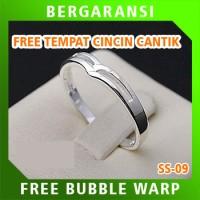 Cincin Kawin Wedding Ring BONUS Tempat Cincin Tunangan Silver SS09