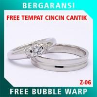 Cincin Perak Couple BONUS Kotak Cincin Couple Wedding Ring Nikah Z06