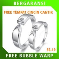 Cincin Perak Ring Couple BONUS Cincin Nikah Kawin Wedding Silver SS19