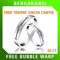 Cincin Perak Ring Couple BONUS Cincin Nikah Kawin Wedding Silver SS17