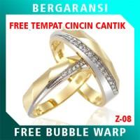 Cincin Perak Couple BONUS Kotak Cincin Couple Wedding Ring Nikah Z08