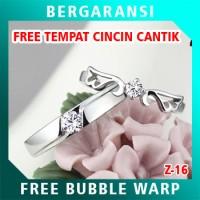 Cincin Perak Couple BONUS Kotak Cincin Couple Wedding Ring Nikah Z14