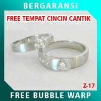 Cincin Perak Couple BONUS Kotak Cincin Couple Wedding Ring Nikah Z17