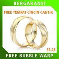 Cincin Perak Ring Couple BONUS Cincin Nikah Kawin Wedding Silver SS23