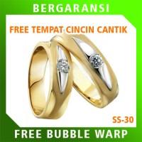 Cincin Perak Ring Couple BONUS Cincin Nikah Kawin Wedding Silver SS30