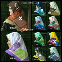 Jilbab hijab segi empat saudia print by ansania
