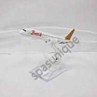 Pajangan Miniatur Diecast Pesawat BATIK