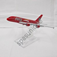 Pajangan Miniatur Diecast Pesawat CocaCola